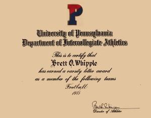 University of Pennsylvalia Athletics - Letter